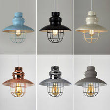 caged lighting. vintage industrial style metal fishermans cage ceiling pendant light lamp shades caged lighting i
