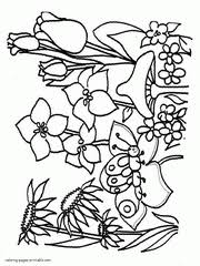 Spring Coloring Pages Free Printable Sheets For Kids