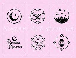 <b>Eid mubarak</b> stencil <b>1 set</b> of 6 different designs. ***The overall ...