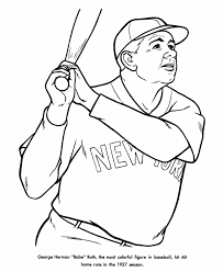 babe ruth coloring pages