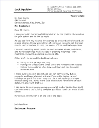 top cover letter custodian cover letter sample