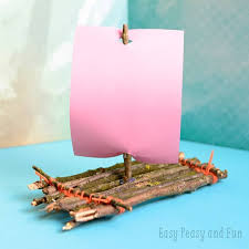 diy kids toys twig boat craft