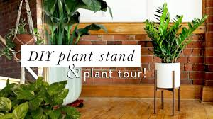 Mid Century Plant Stand Diy Mid Century Modern Plant Stand Plant Tour Youtube