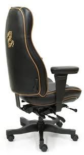 custom office chair. lifeform 2390 ultimate hb in deer run chocolate premium leather with brighton honey contrast piping custom office chair