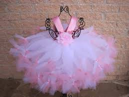 Petti Tutu Dress, Pink On White, Empire Waist, for Babies 3-24