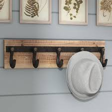 Wall Mounted Coat Rack Laurel Foundry Modern Farmhouse Wood And Iron Wall Mounted Coat Rack 20