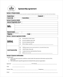 sponsorship agreement sponsorship agreement example