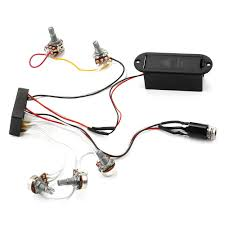 free shipping 3 band eq preamp circuit bass guitar wiring harness pre wired guitar harness at Guitar Wiring Harness