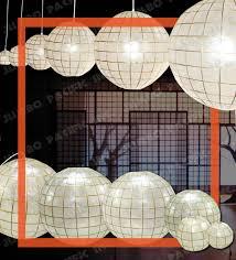 capiz shell globe chandelier