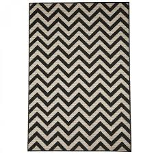 contemporary zigzag black ivory rug by floorita 5