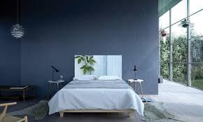 modern bedroom blue. Blue Wall Design In Modern Scandinavian Bedroom Modern-bedroom R
