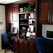 Custom built home office Window Bench Cl Design Specialists Custom Home Office Cabinets In Southern California