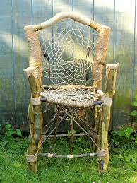 Items similar to Custom Dream Catcher Chair - Handmade & Recycled Tree Limb  Furniture - Rustic Chair - Tree Branch Furniture on Etsy