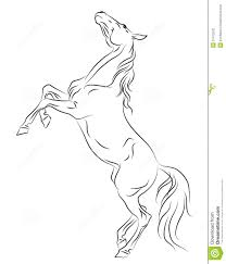 rearing horses drawings.  Rearing Download Horse Rearing Up Sketch Stock Vector Illustration Of   27412532 With Rearing Horses Drawings D