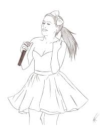Small Picture Ariana Grande Coloring Pages jacbme