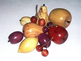 wooden fruit bowl rustic bowls wood with banana hook