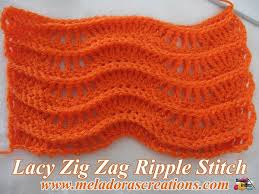 Crochet Ripple Pattern Cool Lacy Zig Zag Ripple Stitch Free Crochet Pattern