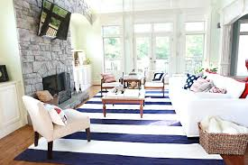 new blue striped outdoor rug blue and white striped rug pottery barn navy blue and white