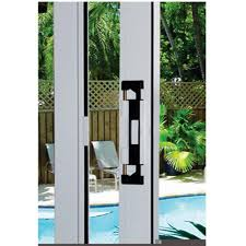 LOCKiT Double Bolt Sliding Glass Door BlackWhite Lock - Exterior lock for sliding glass door