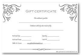 microsoft word gift certificate