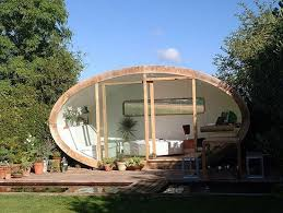 office garden pod. Roost\u0027s R1 Office Pod Makes A Stunning Addition To Any Garden. The Distinctive Oval Design Is Covered With Western Red Cedar, Which Naturally Withstands Garden