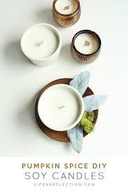 diy cinnamon clove orange and ginger essential oil candles via lifenreflection