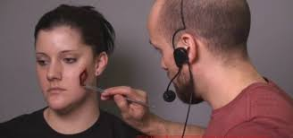how to apply a wound with gel filled silicone makeup