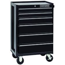 Craftsman 6 Drawer Rolling Cabinet 114381 6 Drawer Heavy Duty Ball Bearing Rolling Cabinet Black