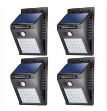 4pcs 20 led solar lights outdoor waterproof solar powered motion sensor light wireless security lights