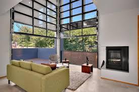 Modern Industrial Glass Garage Door S Inside Ideas