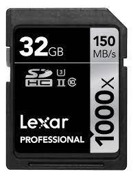 Thẻ nhớ Lexar Professional 1000x 32GB SDHC UHS-II/U3 Card