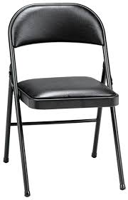 meco 4 pack deluxe vinyl padded folding chair black lace and black vinyl seat