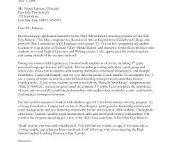 Cover Letter Teaching Position Sample Of Interest For Examples