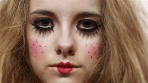 how to do creepy doll makeup