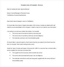 letter of complaint word pdf documents formal letter of complaint services template
