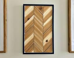 diy chevron wood wall art tutorial