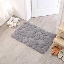 2019 new modern bath mats for decor bathroom rug doormat absorbent washable non slip bath mats floor carpet high quality toilet rug decoration from cindy668