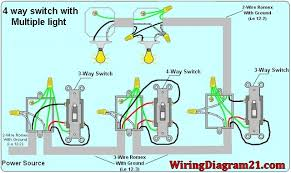 4 way light switch wiring diagram house electrical wiring diagram Wiring Diagram For Multiple Outlets 4 way switch wiring diagram with multiple lights power source feed vea the switch wiring diagram for multiple gfci outlets