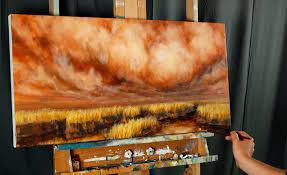 cloudy days and waterways a dvd oil painting lesson