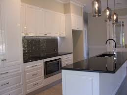 Granite Kitchen Benchtops White Cupboards With Black Benchtops Kitchens Pinterest