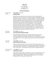 Legal Secretary Resume Objective Skills Sample Professional