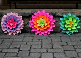 Dahlia Flower Making With Paper Stylish Home Decor Project Paper Flower Craft Kicking It