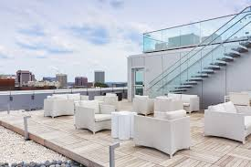 Chic Rooftop Sitting Area