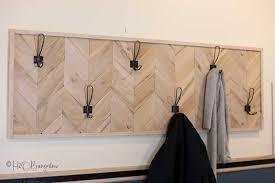 chevron diy coat rack tutorial free