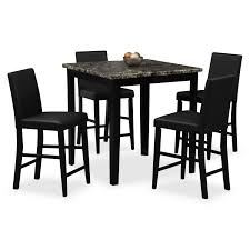 dining room table. Shadow Counter-Height Table And 4 Chairs - Black Dining Room