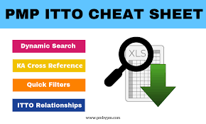 Blank Pmp Process Chart How To Exploit Pmp Itto Cheat Sheet For Your Exam Prep
