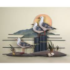 seagull wall art metal