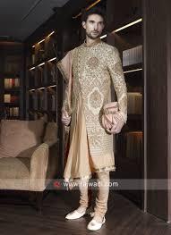 Groom Sherwani Latest Design Designer Groom Sherwani With Dupatta