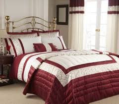 image detail for red cream double duvet cover bedding set luxury new