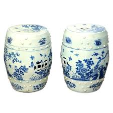 ceramic garden seat. ceramic garden seat antique blue ordinary porcelain stool 4 pair of seats in n